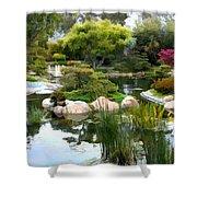 Japanese Garden Panorama 2 Shower Curtain