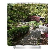 Japanese Garden Path With Azaleas Shower Curtain