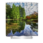 Japanese Garden Pond I Shower Curtain