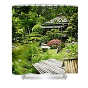 Japanese Garden Teahouse Shower Curtain