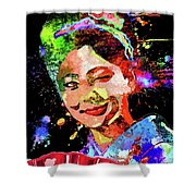 Japanese Geisha Colored Shower Curtain