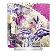 Japanese Iris - Kimono Series Shower Curtain