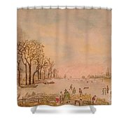 Japanese Light In Remembrance Of Aert Van Der Neer Shower Curtain
