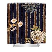 Japanese Maple And Chrysanthemum Modern Interior Art Painting. Shower Curtain