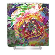 Japanese  Peony Shower Curtain