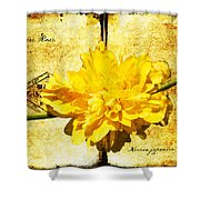 Japanese Rose  Shower Curtain