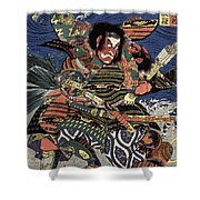 Japanese Samurai Shower Curtain