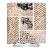 Mineral Garden  Shower Curtain