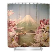 Japanese Spring Shower Curtain