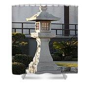 Japanese Stone Pagoda Shower Curtain