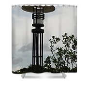 Japanese Street Lamp Shower Curtain