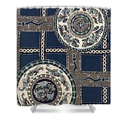 Japanese Style Phoenix And Dragon Modern Interior Art Painting Shower Curtain