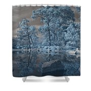 Japanese Tea Garden Infrared Center Shower Curtain