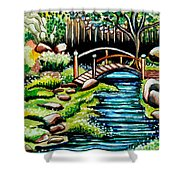 Japanese Tea Gardens Shower Curtain