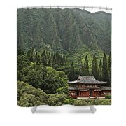Japanese Temple Shower Curtain