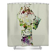 Japanese Woman In Kimono Shower Curtain