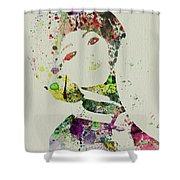Japanese Woman Shower Curtain by Naxart Studio