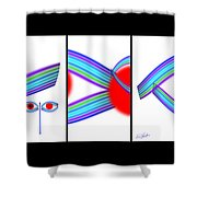 Japaneyes Shower Curtain