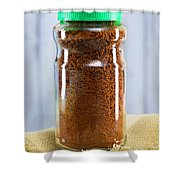 Jar Of Instant Decaf Coffee Shower Curtain