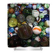 Jar Of Marbles Shower Curtain
