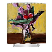 Jar With Tulips Shower Curtain