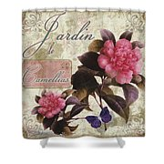 Jardin De Roses Shower Curtain