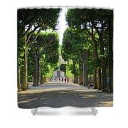 Jardin Des Plantes Walkway Paris France Shower Curtain