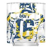 Jared Goff Los Angeles Rams Pixel Art 2 Shower Curtain