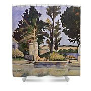 Jas_de_bouffan_after_cezanne Shower Curtain by Don Perino