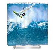 Jason Flies Over A Wave Shower Curtain