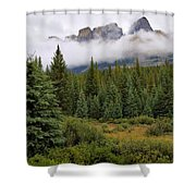 Jasper Peaks Shower Curtain