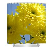 Yellow Trio Shower Curtain