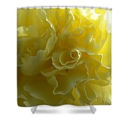 Yellow Waves Shower Curtain
