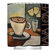 Java Love Poster Shower Curtain