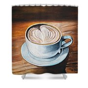 Java Time #1 Shower Curtain