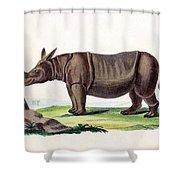 Javan Rhinoceros, Endangered Species Shower Curtain
