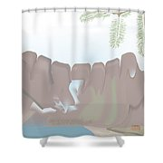 Jaw Mountain Shower Curtain