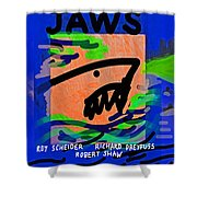 Jaws Poster  Shower Curtain