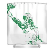 Jaylen Brown Boston Celtics Pixel Art 11 Shower Curtain