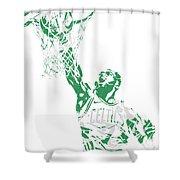 Jaylen Brown Boston Celtics Pixel Art 12 Shower Curtain