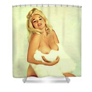 Jayne Mansfield, Actress And Pinup Shower Curtain