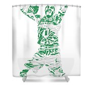 Jayson Tatum Boston Celtics Pixel Art 11 Shower Curtain