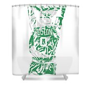 Jayson Tatum Boston Celtics Pixel Art 12 Shower Curtain