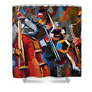 Jazz Angles Shower Curtain