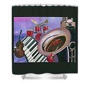 Jazz At Sunset Shower Curtain