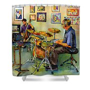 Jazz At The Gallery Shower Curtain