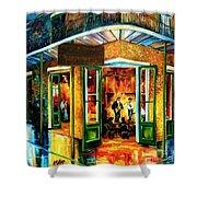Jazz At The Maison Bourbon Shower Curtain by Diane Millsap
