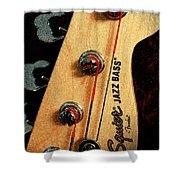 Jazz Bass Headstock Shower Curtain