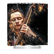 Jazz Bass Player Shower Curtain
