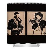 Jazz Jammin Brothers Shower Curtain